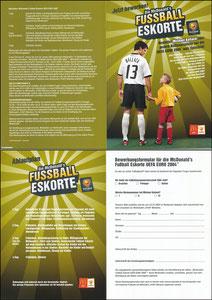 Ballack, 2004, McDonalds, 'Fußball-Eskorte', Klappkarte A5