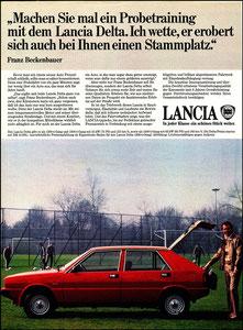 Beckenbauer, 1980, Lancia, Zeitungsanzeige, Motiv 1