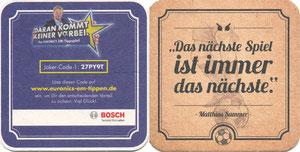 Kahn, 2014, Euronics, Bierdeckel 'Sammer-Spruch'