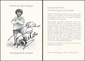 Breitner, 1982, 'Prom', Buchpromotion 'Kopfball'