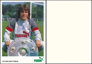 Matthäus, 1985, Puma, blanko Rückseite, MIT Druck-Nr.