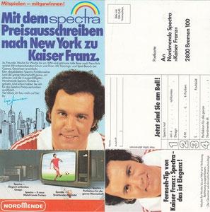 Beckenbauer, 1977, Spectra Nordmende, Dank an SF Norbert