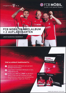 Bayern München, 2016, FCB Mobil 'Sammelkarten 2016-17', sign. Thiago am 22.11.2019 vor dem Abflug zum Düsseldorf-Spiel