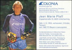 Pfaff, 1983, Colonia, ohne 'Hallo Fans'