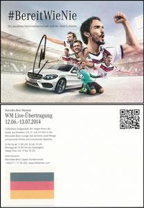 DFB, 2014, Mercedes Benz, 'Bereit wie nie', von vor der WM, signiert Neuer