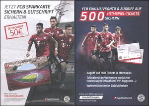 Hypovereinsbank, 2018, 'Heimspiel-Tickets', signiert Hummels im Jan. 2019