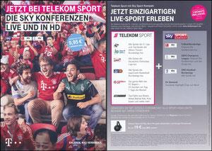 Telekom, 2018, Flyer '09'2018', A5, rückseitig kleiner rosa Button