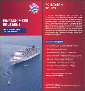 Bayern München, FC Bayern Tours, 2019