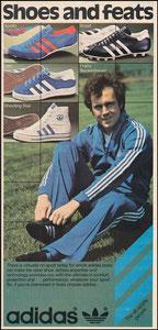 Beckenbauer, 1978, Adidas, US-Zeitungsanzeige