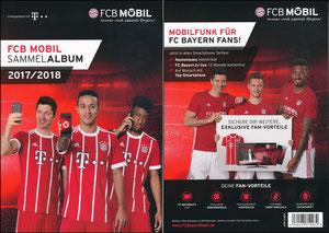 Bayern München, 2017, FCB Mobil, Prepaid-Karten Sammelheft A4