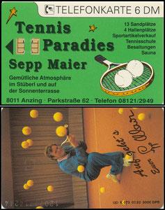 Maier, 1976, Tennispark, Telefonkarte