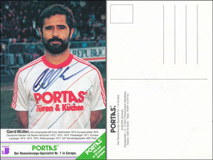 Müller, Portas, 1982, '450 x in 10 Ländern' - Front 'Spezialist Nr. 1 in Europa' - Rück 'Spezialist Nr. 1 in Europa' - Bildstand größer