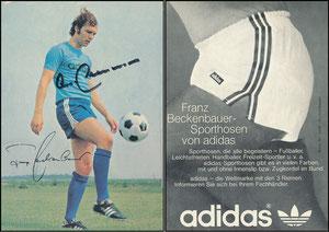 Beckenbauer, 1973, Adidas 'Sporthosen'