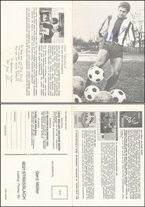 Müller, Gerd, 1969, Komar, Klappkarte, Rückseite 2
