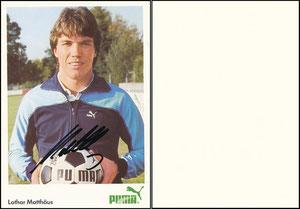 Matthäus, 1984, Puma, A6-Karte, Spielername links unten