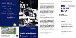 Maier, 2015, Fotoausstellung Kurpfälzisches Museum Heidelberg, Einladung Klappkarte