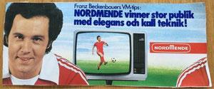 Beckenbauer, 1977, Spectra Nordmende, schwedischer Aufkleber