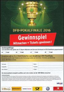 Sky, 2016, DFB-Pokalfinale, Gewinnspiel
