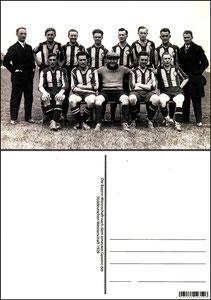 Fan Shop, Postkarte, '1928, Süddeutsche Meisterschaft 1928', Dank an SF Sven