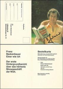 Beckenbauer, 1975, 'Einer wie ich', Klappkarte, OHNE Druck-AG