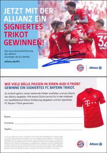 Allianz, 2019, Trikot-Gewinnspiel, sign. Alaba am 18.01.2019