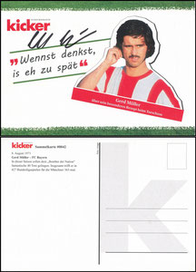 Kicker Sammelkarte 42 Müller, Gerd