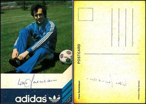 Beckenbauer, 1978, Adidas, US-Karte, Dank an SF Sven