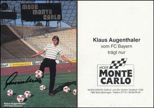 Augenthaler, 1984, Mode Monte Carlo