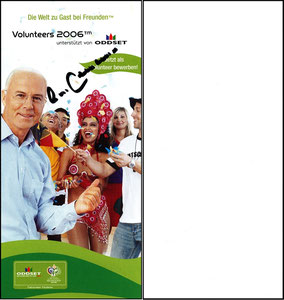 Beckenbauer, 2005, WM Volunteers-Flyer 2 WM 2006