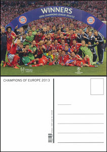 Postkarte, 2013, 'UEFA CL-Winners'