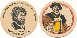 Breitner, 1982, Schultheiss-Brauer 'WM 82', Bierdeckel
