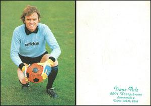Maier, 1976, Adidas, 'Alles von Adidas', blanko Rückseite, Dank an SF Michael