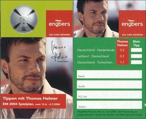 Helmer, 2004, Engbers 'EM Spielplan', Klein-Folder