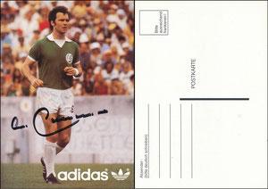 Beckenbauer, 1978, Adidas 'Cosmos NY', Postkarten-Druck