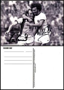 Postkarte, Fanshop, 2000er, Breitner-Hoeness, Spielszene 1973