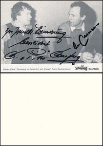 Gemeinschaftskarte, 1985, Danzberg-Beckenbauer, Spring Sportbälle