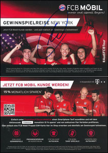 Bayern München, 2016, 07'2016,  FCB Mobil 'USA-Reise', signiert Müller im März 2019