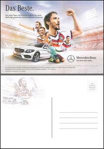 DFB, 2014, Mercedes Benz 'Das Beste', Dankeskarte nach der WM Dank an SF Robert