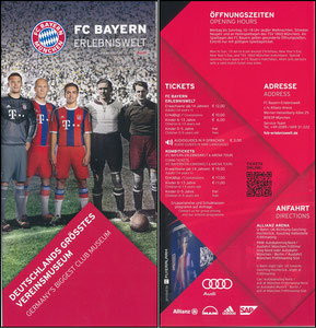 Bayern Erlebniswelt, 2015, Flyer