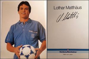 Matthäus, 1988, Hamburg-Mannheimer, Rückseite 'Lothar Matthäus', GESUCHT!!