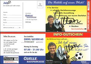 Maier, 2000, Quelle Bausparkasse, Klappkarte, Dank an SF Robert