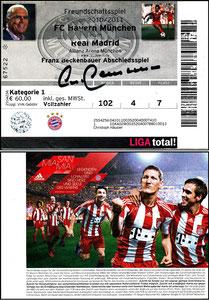 Beckenbauer, 2010, Abschiedsspiel, Eintrittskarte