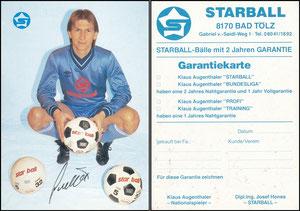 Augenthaler, 1984, Star Ball