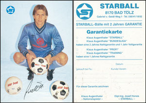 Augenthaler, 1984, Star Ball