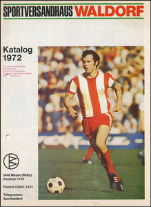 Beckenbauer, 1972, 'Sportversandhaus Waldorf', A4, Booklet