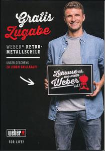 Müller, Thomas, 2018, Werber-Grill, Aufsteller 'Gratis Zugabe'