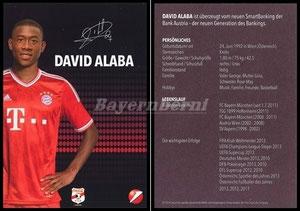 Alaba, 2013, Bank of Austria