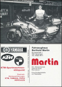 Pfaff, 1986, Martin Fahrzeughaus