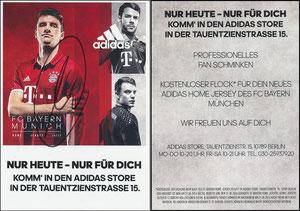 Adidas, 2016, DFB-Finale Berlin, sign. Müller im Nov. 2019
