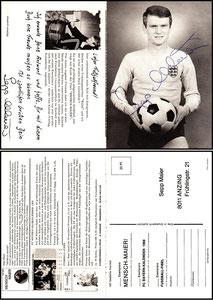 Maier, 1967, Komar, Klappkarte, Version 3 der Rückseite, Dank an SF Sven
